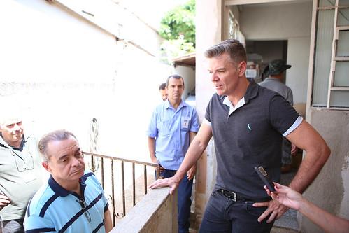 Visita técnica para verificar as condições da Rua Régulos, no Bairro Miramar, pois as casas situadas próximo ao local da visita recebem um vultuoso volume de água da chuva - Comissão de Meio Ambiente e Política Urbana