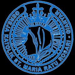 Stempel Berwarna Paroki SMRR Gianyar (Transparant-Size Kecil)
