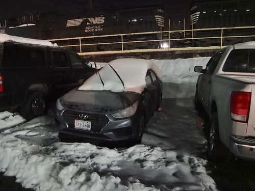 My Hyundai after the snow at work