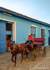 Man with horse and cart, Trinidad, Cuba