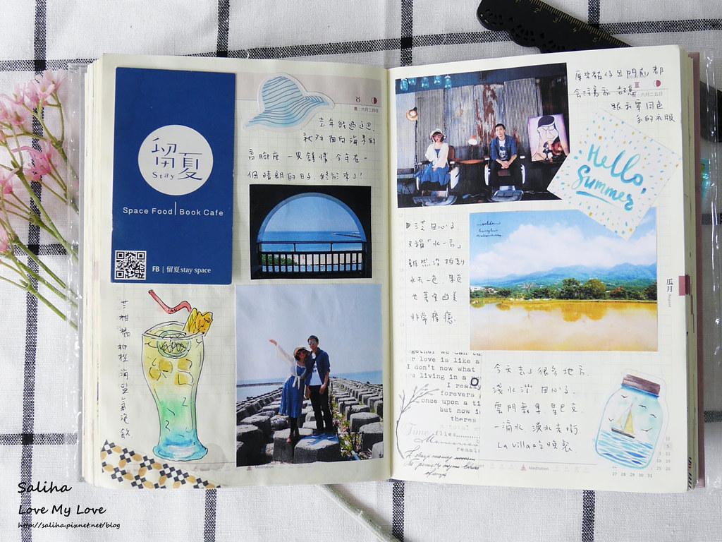 手帳日記裝飾分享紙膠帶設計水彩遊記 (4)