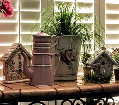 vintage enamelware/mosaics