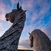 An evening with the Kelpies