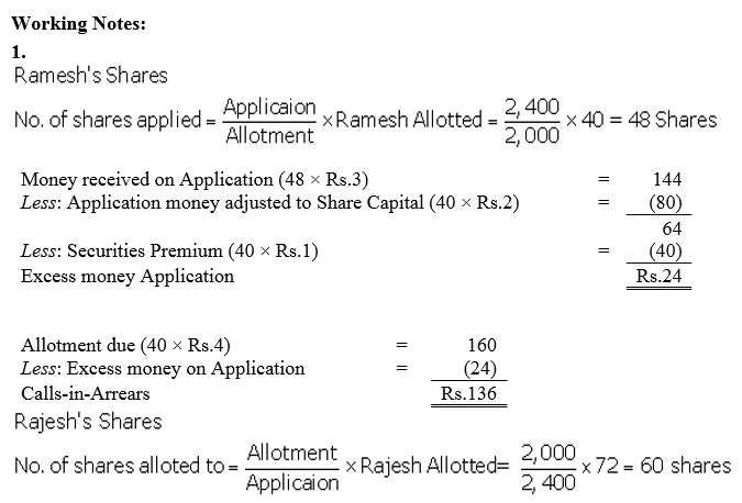 TS Grewal Accountancy Class 12 Solutions Chapter 8 Accounting for Share Capital Q87.4