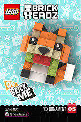 Go Brick Me, Fox  -BrickHeadz Style Ornament