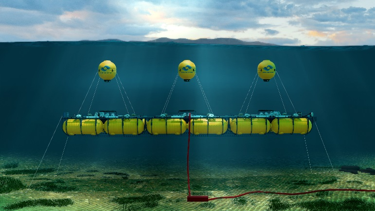 Marine Power Systems wave energy converter: artist's rendition
