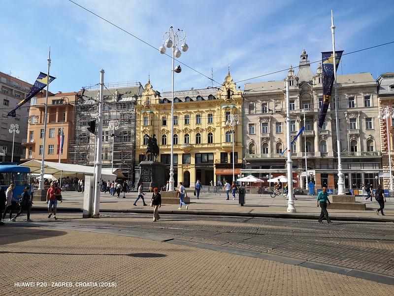 2018 Croatia Zagreb Ban Jelacic Square 1