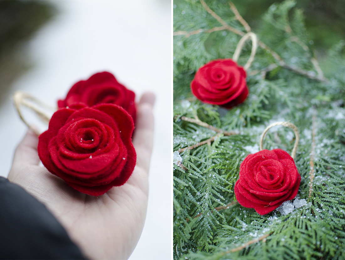 rose ornament collage