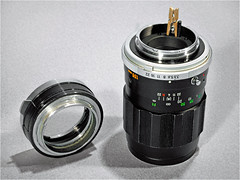 135mm Tele-Rokkor aperture indexing pin kludge