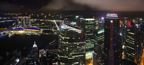 Singapore high-rise financial district offices