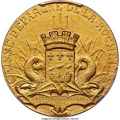 French Republic La Rochelle Savings Bank Jeton reverse