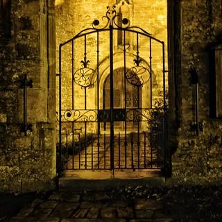 Church Gate at Night.
