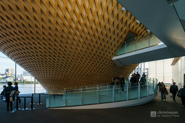 Lobby space of Mt.Fuji World Heritage Centre, Shizuoka (静岡県富士山世界遺産センター)