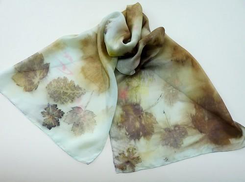 hand printed silk scarves