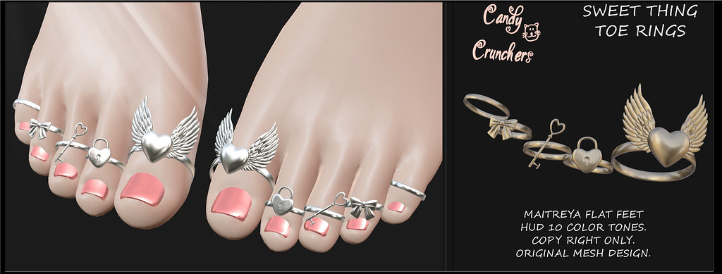 Sweet Thing toe rings @ Kawaii Nation - TeleportHub.com Live!