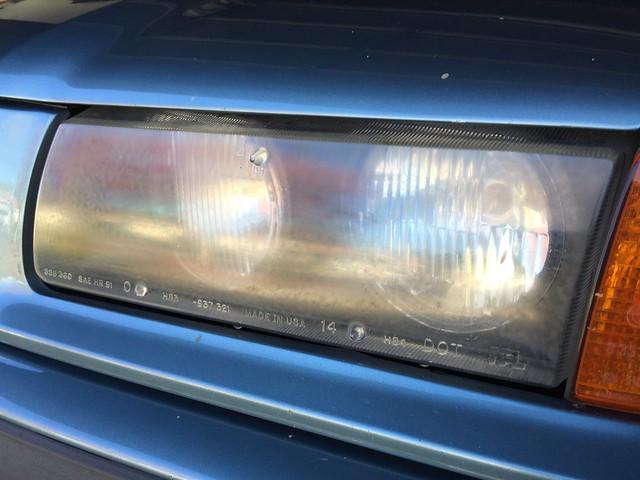 Hazy headlight lens
