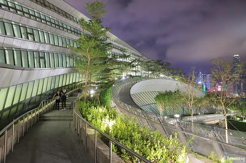"""Hong Kong West Kowloon Station """"Green Plaza"""""""