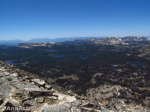 Views toward Mt. Watson and multiple lake basins from Bald Mountain in the Uinta Mountains of Utah