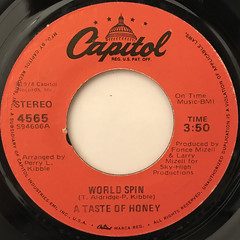 A TASTE OF HONEY:BOOGIE OOGIE OOGIE(LABEL SIDE-B)