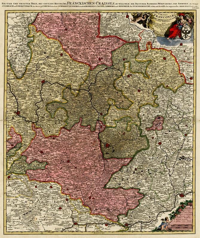 Peter Schenk - Circuli Franconiae Pars Oreintalis et Potior Novissime delineata (1706)