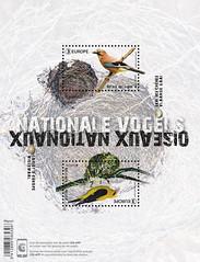 08 EUROPA NATIONAL BIRDS feuillet+app
