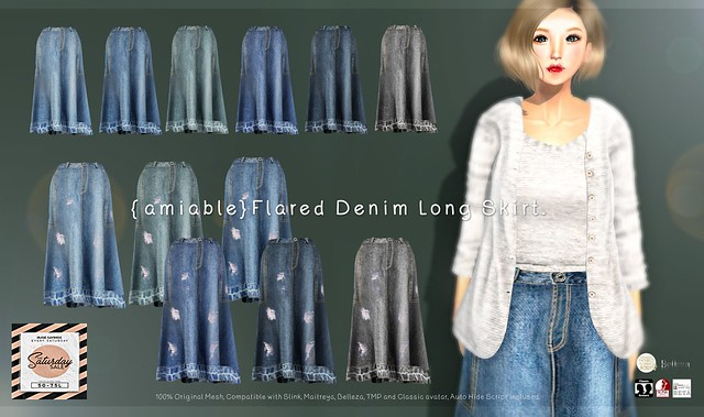 "{amiable}""SATURDAY SALE""Denim Skirt &""BLACK FRIDAY SALE""@the main store."