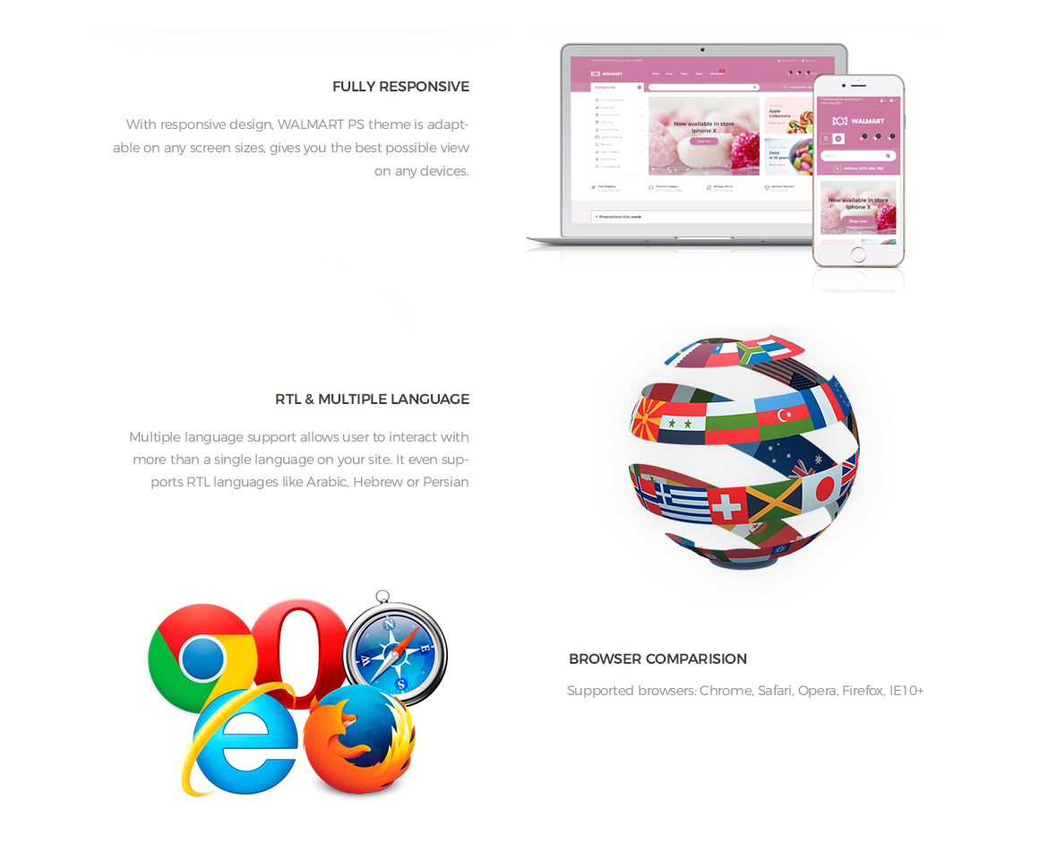 Prestashop 1.7 theme features-Leo Walmart - beautiful sweet, candy, food store