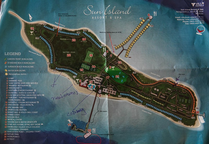 Sun Island Resort & Spa map