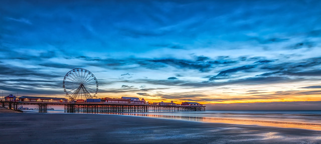 Blackpool Pier Sunset, Canon EOS 5D MARK IV, Canon EF 11-24mm f/4L USM