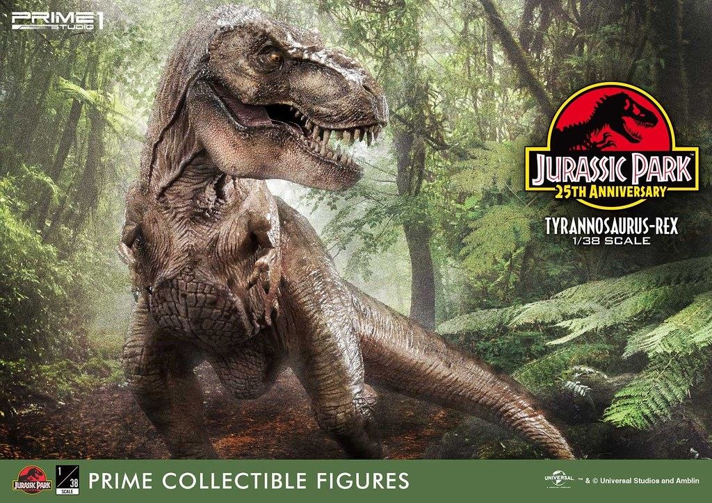 Prime 1 Studio《侏羅紀公園》霸王龍 ジュラシック・パーク ティラノサウルス・レックス 1/38 比例全身雕像作品