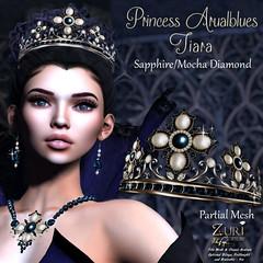 Zuri's Princess Arualblues Tiara PMesh SapphireMocha Dia