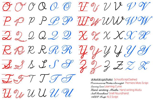 筆記体 書き方 大文字 文字のつなげ方 アルファベット 英語 英文