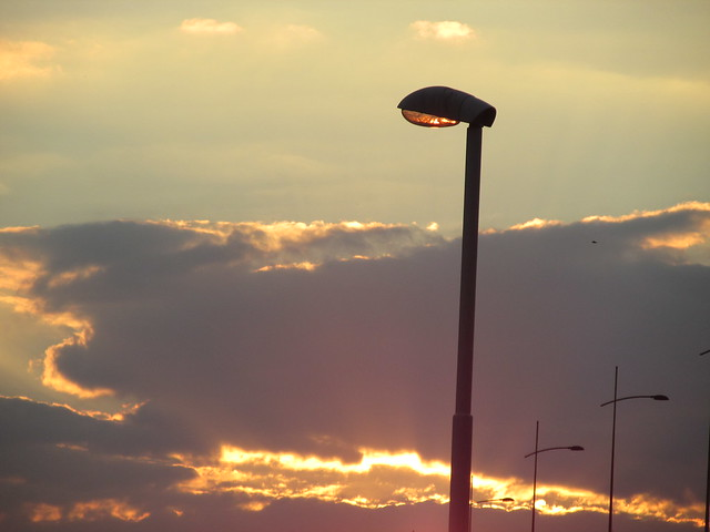 Sunset in city, Canon POWERSHOT SX160 IS