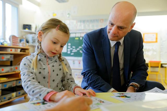 Dynamisme des écoles rurales: déplacement de Jean-Michel Blanquer dans les Yvelines