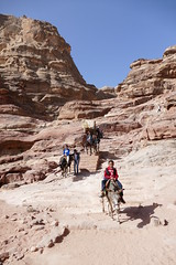 Climbing Down from the Monastery at Petra (23)
