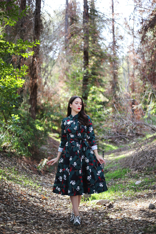 Collectif Mara Wild Berries Swing Dress