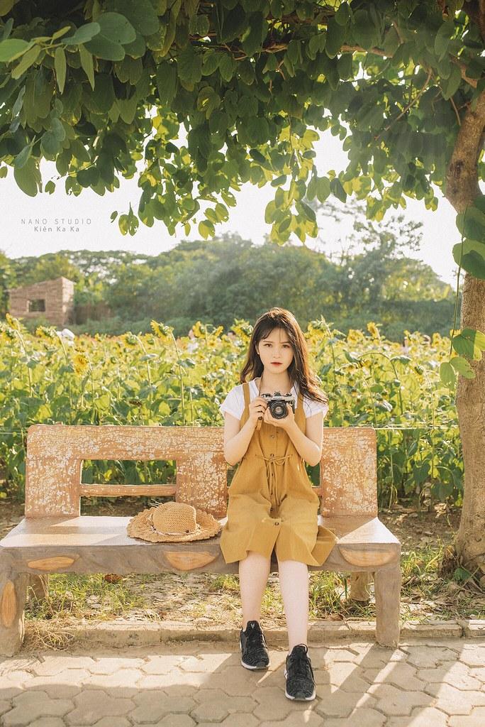 Văn Long Blog Stock Hoa Hướng Dương RAW Đồ Họa Stock Tài Nguyên RAW NEF Mẫu Xinh Hướng Dương Girl Cute