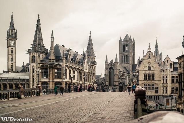 Rainy day in Ghent (Belgium)
