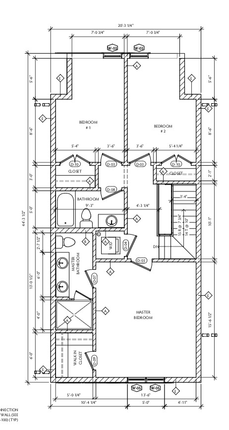 4581 N McVicker Arch Drawings - Second Floor