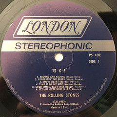 THE ROLLING STONES:12 X 5(LABEL SIDE-A)
