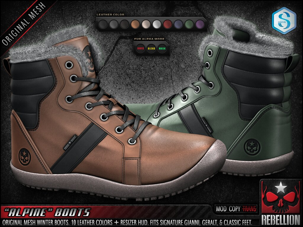 "= REBELLION = ""ALPINE"" BOOTS"