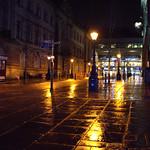 Rainy streets of Preston