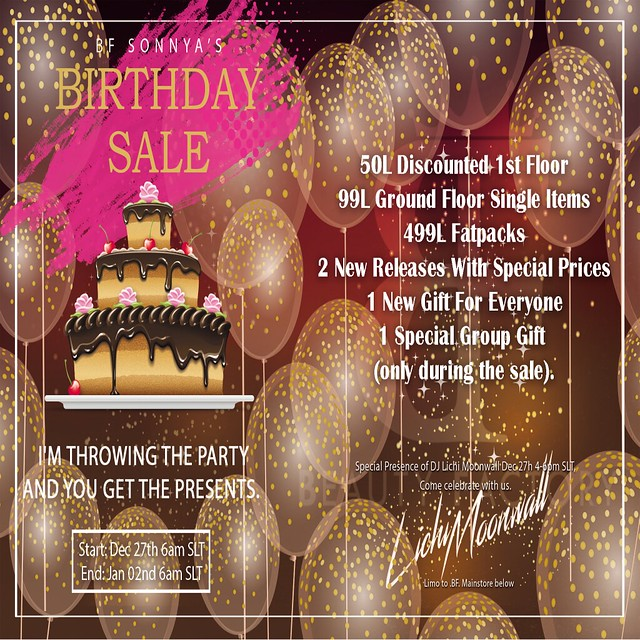 .BF. Birthday Sale Promo Flyer