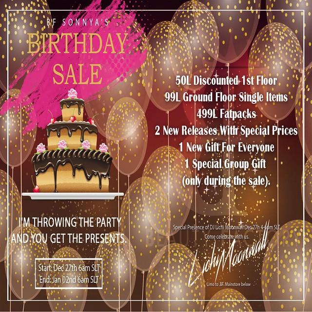 .BF. Birthday Sale Promo Flyer