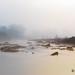 rio tinto con niebla