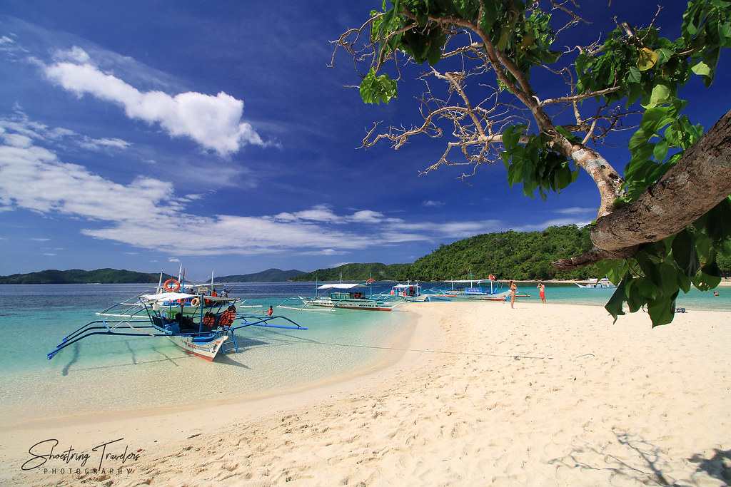 the white sand beach at Exotic Island