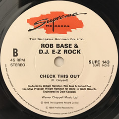 ROB BASE & DJ E-Z ROCK:JOY AND PAIN(LABEL SIDE-B)