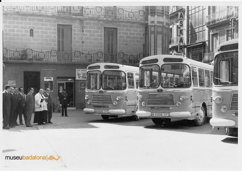 inauguració línies 1966 plaça Ajuntament
