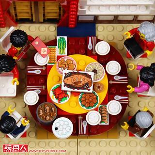 新年快樂,好菜上桌!快回家團圓吧~LEGO 80101【年夜飯】Chinese New Year's Eve Dinner 開箱報告