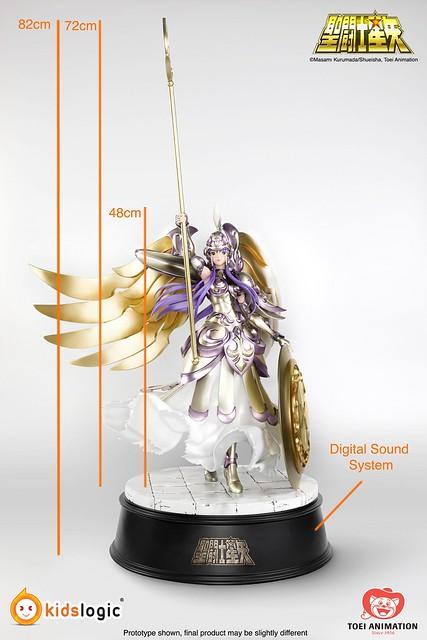 Kids Logic《聖鬪士星矢》武裝女神 雅典娜 1/4比例尺寸雕像作品 (數位聲音效果)! Armoured Athena Statue with Digital Sound System
